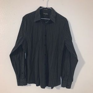 Express Modern Fit Black and White Button Down